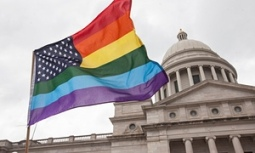Gay flag at supreme court